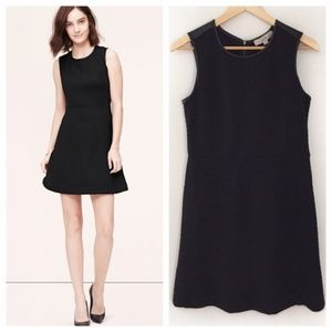 NWT Ann Taylor LOFT Black Quilted Cocktail Dress